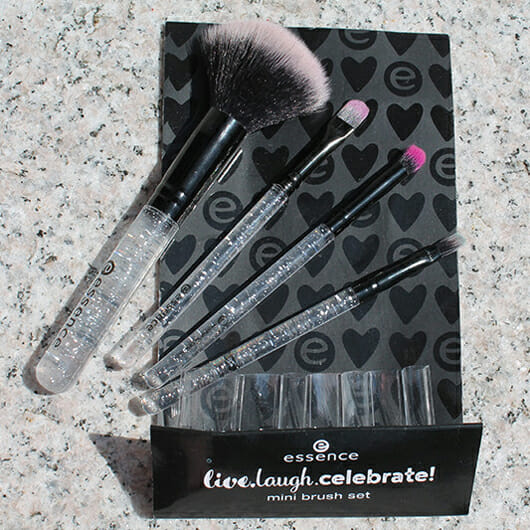 essence live. laugh. celebrate! mini brush set (LE)