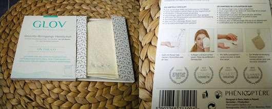 GLOV On-The-Go Gesichts-Reinigungs-Handschuh - Verpackung innen und hinten