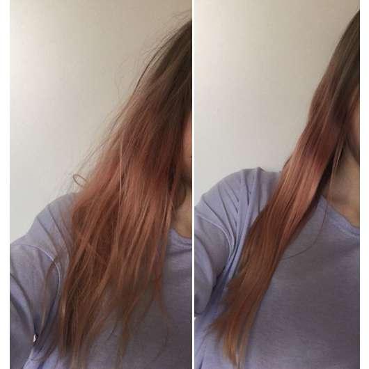 Haare vor/nach der Anwendung der ISANA PROFESSIONAL Haarkur Intensiv 13in1