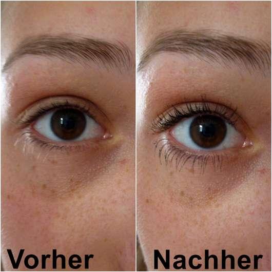 Wimpern ohne/mit MANHATTAN Go4Big Lashes Mascara Waterproof
