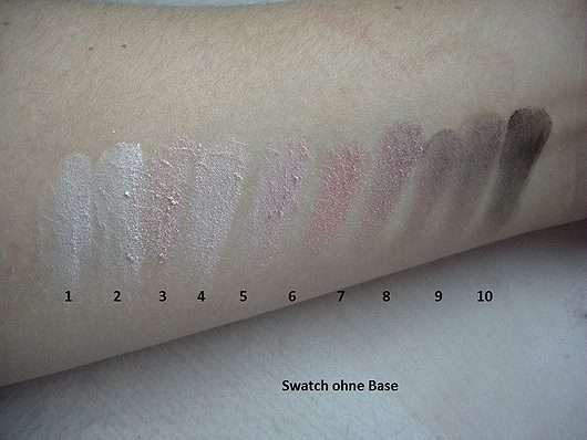 Swatches ohne Base Misslyn Must-Have Eyeshadow Shades, Farbe: 2 Shades Of Rose