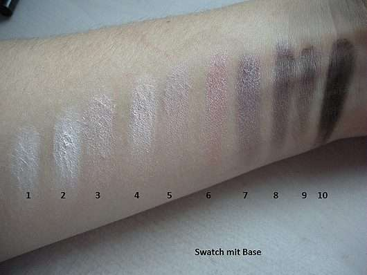 Swatches mit Base Misslyn Must-Have Eyeshadow Shades, Farbe: 2 Shades Of Rose
