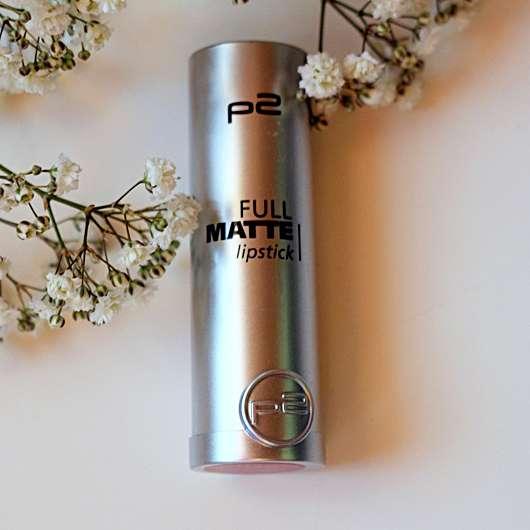 Verpackung vom  p2 full matte lipstick, Farbe: 010 spread knowledge