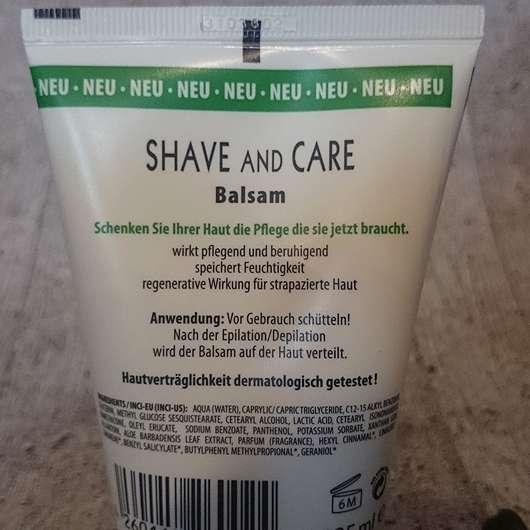 Rückseite - Sannemann Cosmetics Shave and Care Aftershave