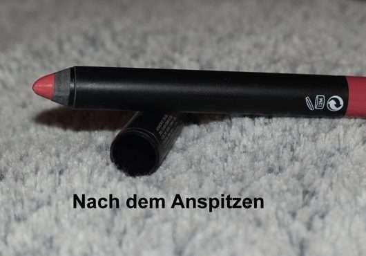 Sleek MakeUP Power Plump Lipstick, Farbe: 1048 Power Pink nach dem Anspitzen