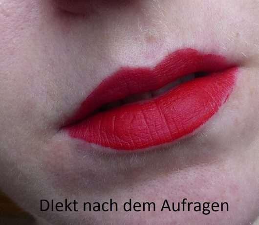 Lippen direkt nach dem Auftrag des Urban Decay VICE LIQUID LIPSTICK, Farbe: 714 (Comfort Matte Finish)
