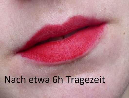Lippen 6h nach dem Auftrag des Urban Decay VICE LIQUID LIPSTICK, Farbe: 714 (Comfort Matte Finish)