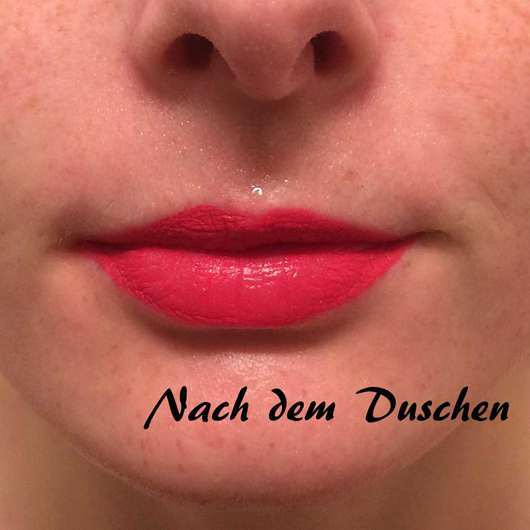Lippen mit Urban Decay VICE LIQUID LIPSTICK, Farbe: Tryst - nach dem Duschen