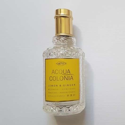 4711 Acqua Colonia Lemon & Ginger Eau de Cologne Flasche und Design