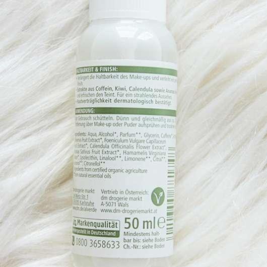 Inhaltsstoffe vom alverde Fixierendes Spray