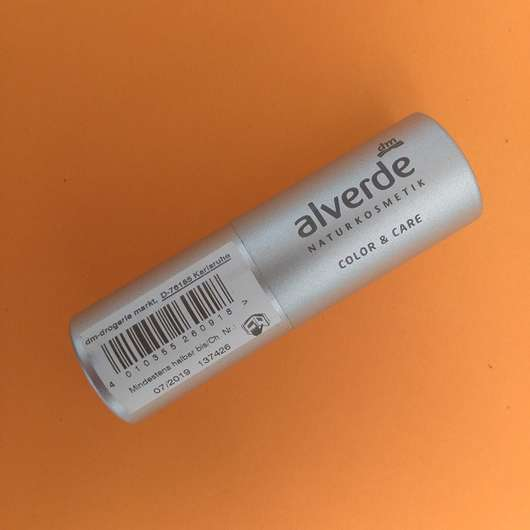 alverde Color & Care Lippenstift, Farbe: 08 Cherry Design