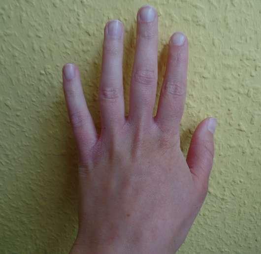 alverde Intensiv Handcreme Bio-Granatapfel Bio-Karitébutter Hand vorher