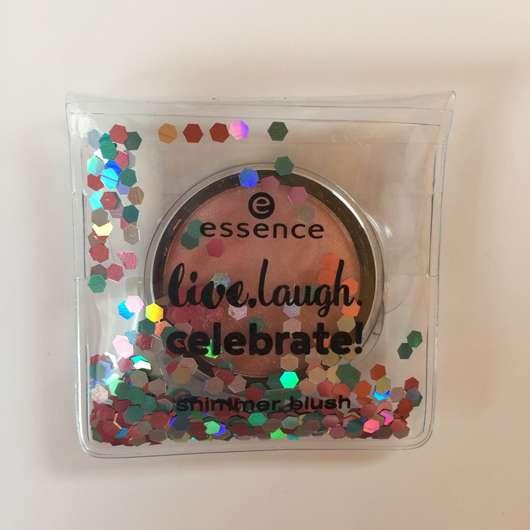 essence live. laugh. celebrate! shimmer blush, Farbe: 01 rhythm of the night (LE) Design