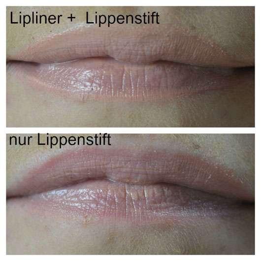 p2 cali vibes let's kiss lipstick, Farbe: 010 peach melba (LE) - auf den Lippen