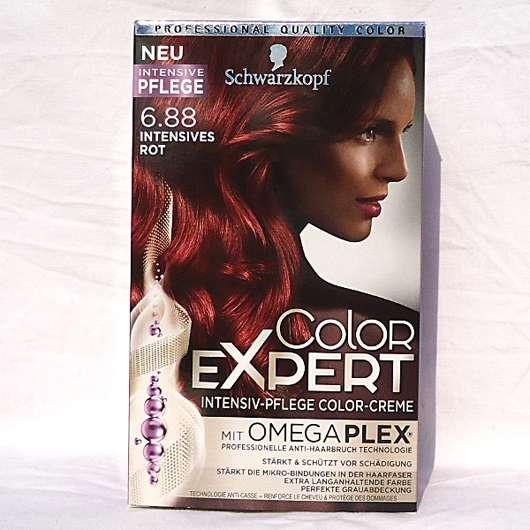 Schwarzkopf Color Expert Intensiv-Pflege Color-Creme, Farbe: 6.88 Intensives Rot Verpackung und Design