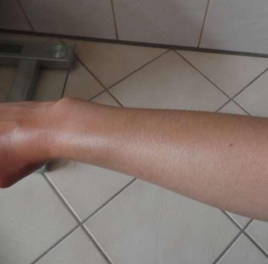 La Roche-Posay Anthelios XL Wet Skin Gel LSF 50+ direkt nach dem Eincremen