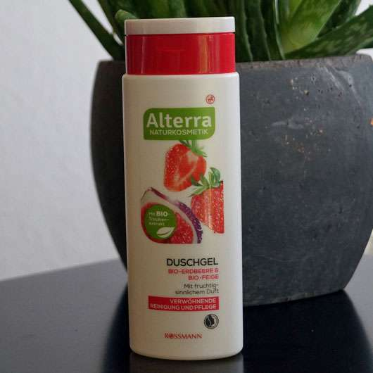 Alterra Duschgel Bio-Erdbeere & Bio-Feige - Flasche