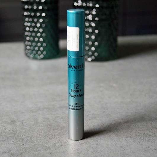 Verpackung der alverde 12 hours long stay mascara, Farbe: 010 schwarz