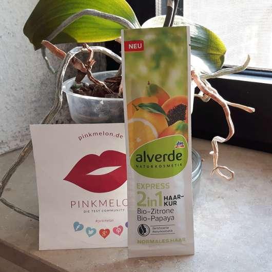alverde 2in1 Express Haarkur Bio-Zitrone und Bio-Papaya Sachet