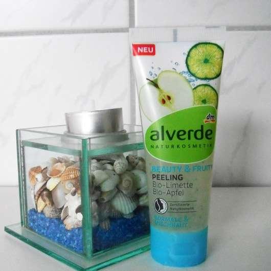 alverde Beauty & Fruity Peeling Bio-Limette Bio-Apfel - Standtube