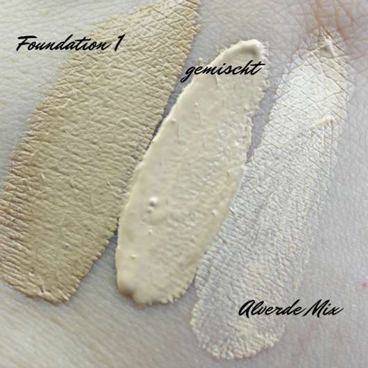 alverde Color & Care Mix Your Make-up, Farbe: Hell Swatches