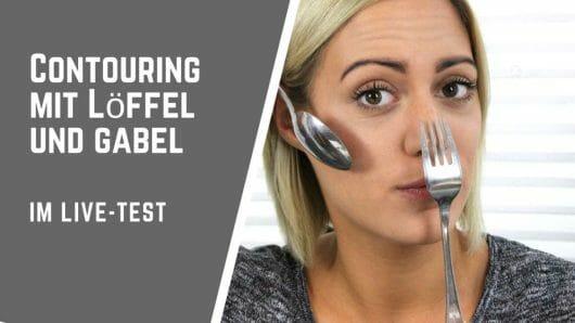 Contouring mit Löffel und Gabel: Wir testen die Beauty Hacks