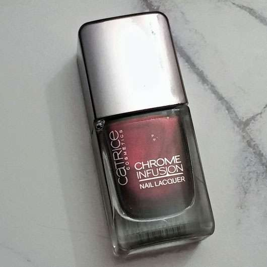 Catrice Chrome Infusion Nail Lacquer, Farbe: 04 Unexpected Red - Flasche