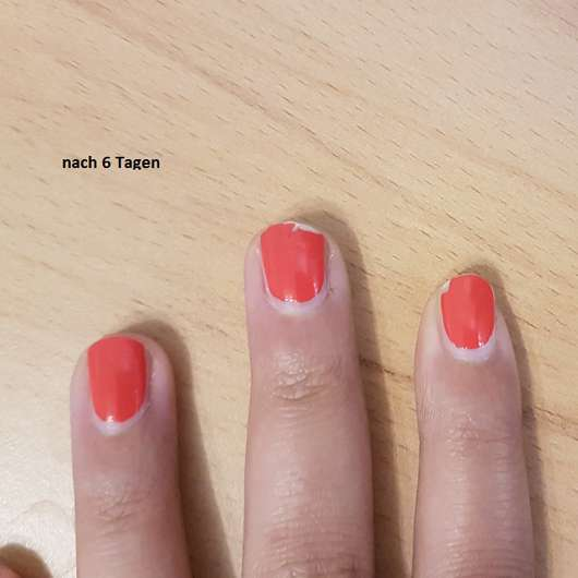 Catrice ICONails Gel Lacquer, Farbe: 06 Nails On Fire nach sechs Tagen