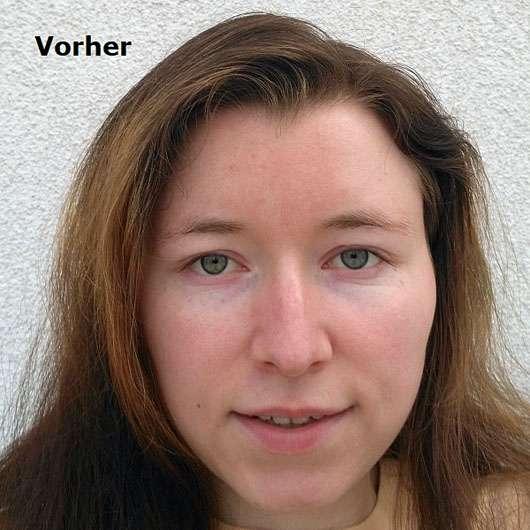 Dr. med. Christine Schrammek Sensiderm Sun Cream Sensitive SPF 50+ - Gesicht vor der Anwendung