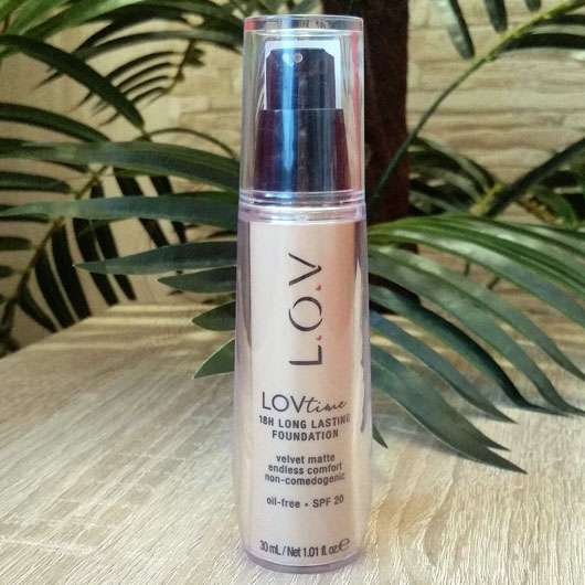 L.O.V LOVtime 18h Long Lasting Foundation, Farbe: 040 Honeymoon - Flasche