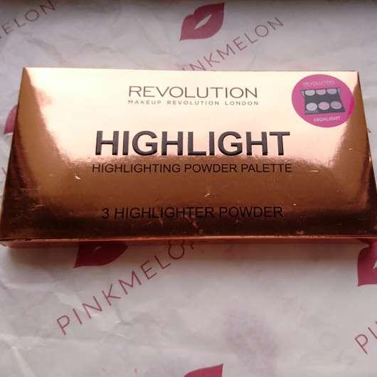 "Makeup Revolution Highlighting Powder Palette ""Highlight"" - Verpackung"