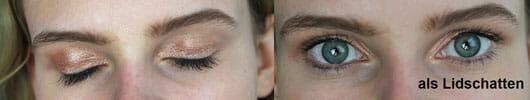 NYX Jumbo Eye Pencil, Farbe: 625 Sparkle Nude - Am Auge als Lidschatten