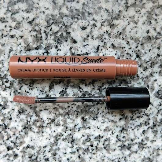 NYX Liquid Suede Cream Lipstick, Farbe: 07 Sandstorm Design