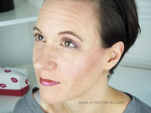 Make Up Factory Blusher Rich Burgundy im Gesicht