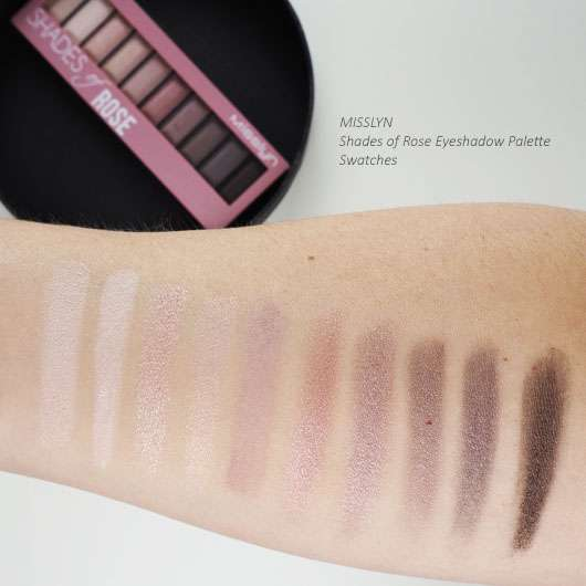 Misslyn Eyeshadow Palette Swatches
