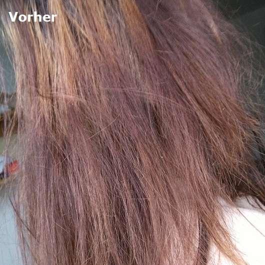 Haare vor Verwendung der Pureology Hydrate Hydra Whip Optimum Moisture Hair Masque