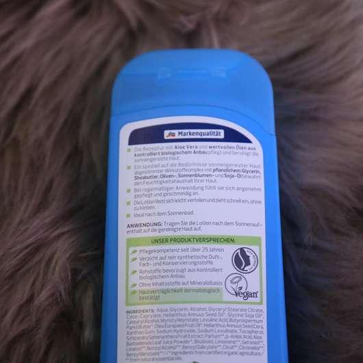 alverde Après-Lotion Bio-Aloe Vera Inhaltsstoffe
