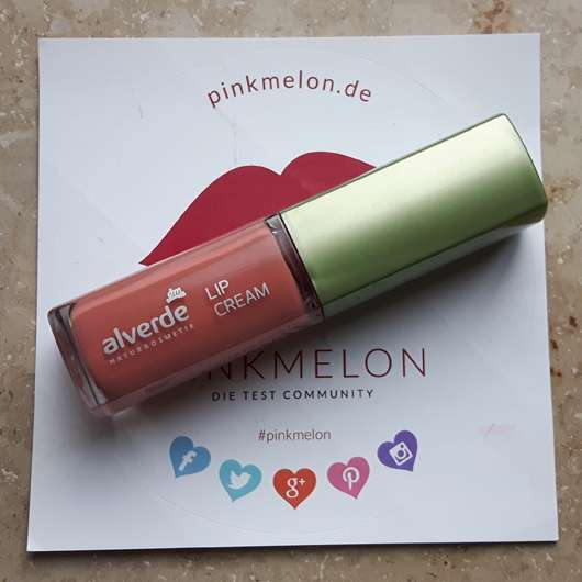 alverde Lip Cream, Farbe: 020 Luminous Coral Design Design