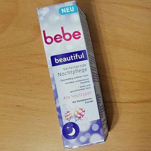 bebe beautiful Verfeinernde Nachtpflege - Verpackung