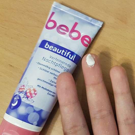 bebe beautiful Verfeinernde Nachtpflege - Konsistenz