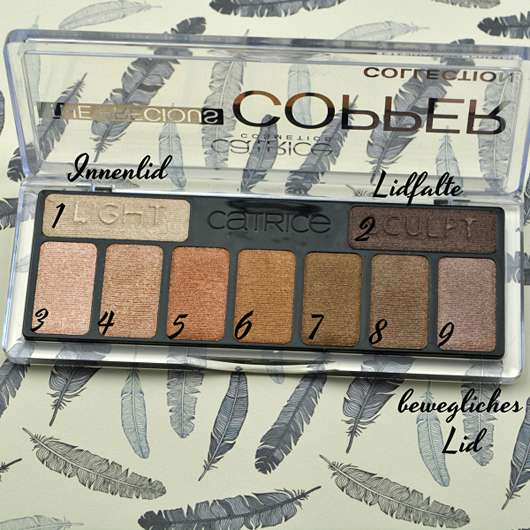 Catrice The Precious Copper Collection Eyeshadow Palette, Farbe: 010 Metallux - Palette geöffnet
