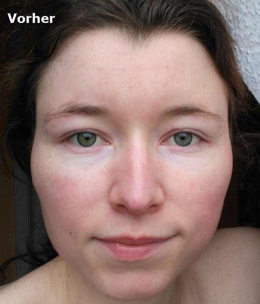 Caudalie Fluid für perfekte Haut LSF 20 vorher