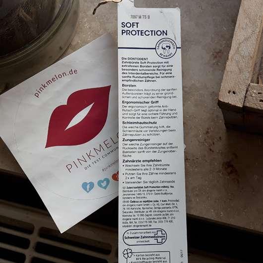 DONTODENT Soft Protection Zahnbürste Herstellerangaben