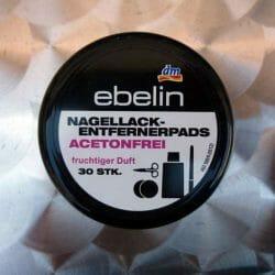 Produktbild zu ebelin Nagellackentfernerpads acetonfrei fruchtiger Duft (30 Stk.)