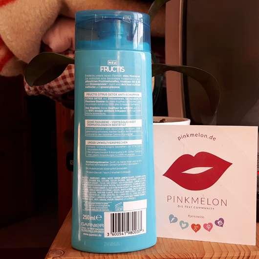 Garnier Fructis Citrus Detox Anti-Schuppen Kräftigendes Shampoo Herstellerangaben