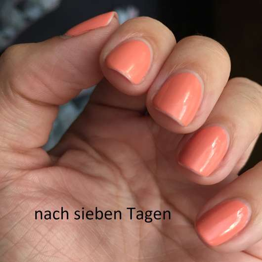 L.O.V LOVinity Long Lasting Nail Lacquer, Farbe: 090 Peach Perfection nach sieben Tagen