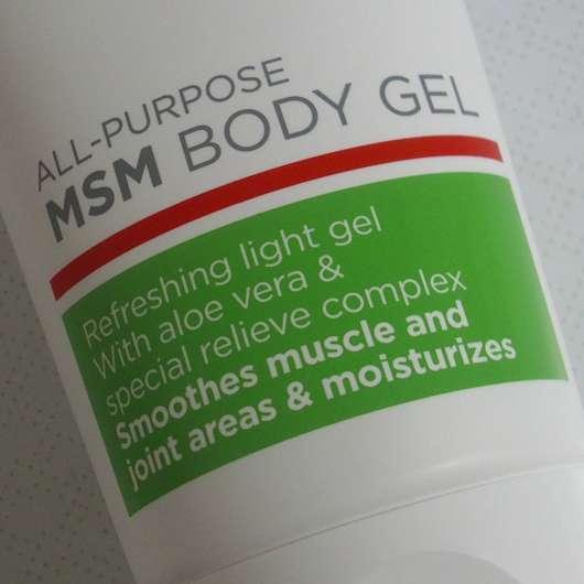 Nahaufnahme Vorderseite des LR Aloe Via Aloe Vera All-Purpose MSM Body Gels