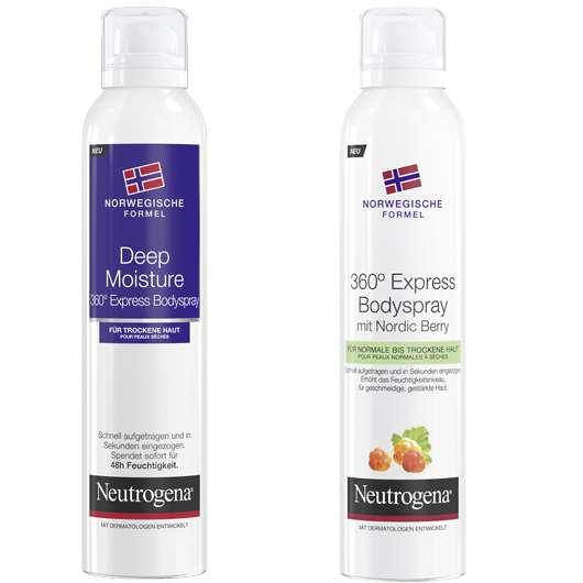 Rundumpflege leicht gemacht mit den Neutrogena® 360° Bodysprays