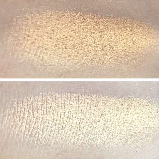 Swatch vom Too Faced Love Light Highlighter, Farbe: You light up my life