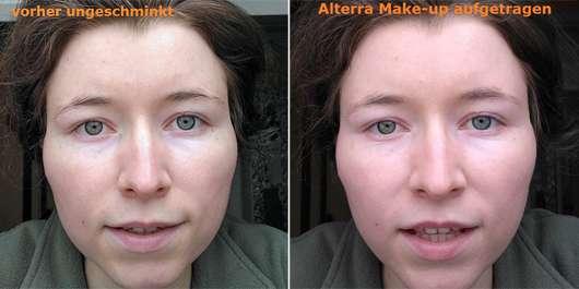 Alterra All-in-One Make-up, Farbe: 01 Nude - Collage vorher nachher